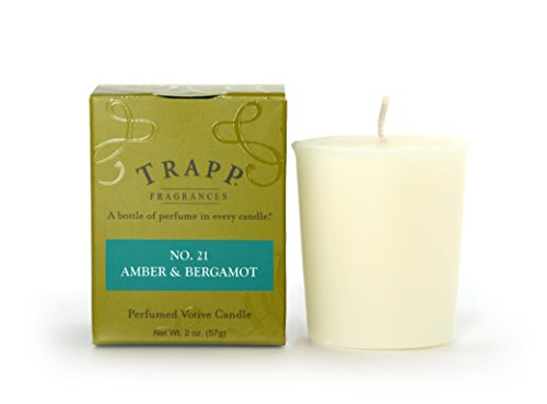 Trapp Signature Home Collection No. 21 Amber & Bergamot Votive Scented Candle, Pack of 4