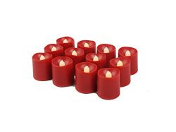 LED Tealight Candles Battery Operated Flameless Tealight Candles with Long Burn Time – 12  ...
