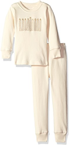L'bKIDS by L'ovedbaby Little Boys' Toddler Organic Holiday Pj Set, Shine Brigh ...