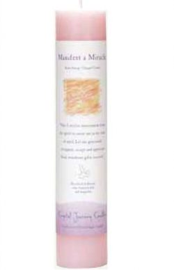 Crystal Journey Herbal Magic Pillar Candle – Manifest a Miracle