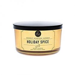 DW Home 15 oz Holiday Spice 3 Wick Candle Holiday Collection