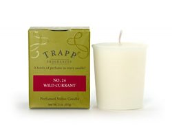Trapp Signature Home Collection No. 24 Wild Currant Votive Scented Candle, Pack of 4