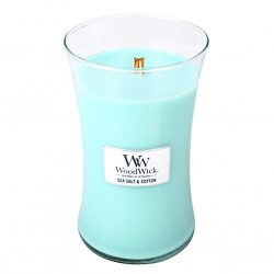 WoodWick Sea Salt and Cotton 21.5 ounce Large Jar Candle