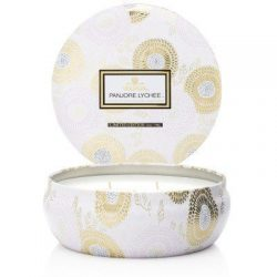 Voluspa Panjoree Lyche Limited 3 Wick Candle In Decorative Tin 12 oz