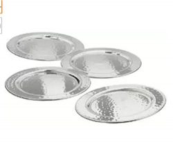 Hosley's Set of 4 Pillar Holders-4.25″ Diameter. Ideal for Candle Gardens, Spa, and  ...