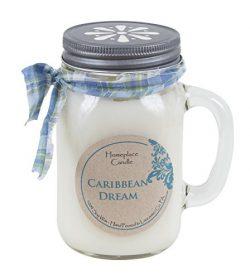 16 oz. – Caribbean Dream – LG Mason Jar Mug – 100% Soy Candle