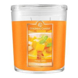 Colonial Candle 22-Ounce Scented Oval Jar Candle, Mango Salsa