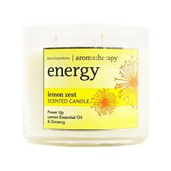 Bath and Body Works 3-wick Limited Edition Candle AROMATHERAPY COLLECTION (Energy – Lemon  ...
