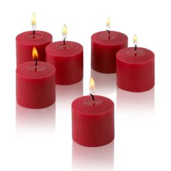 10 Hour Red Unscented Votive Candles Set of 72 Made in USA