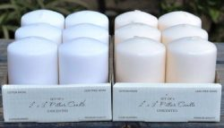 Spring Rose(TM) 2 X 3 Inch White Pillar Candles(Set of 6). These Are Perfect For Party Or Weddin ...