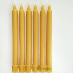 BCandle 100% Pure Beeswax Candles 8-hour Organic Hand Made – 8 Inch Tall, 3/4 Inch Diamete ...
