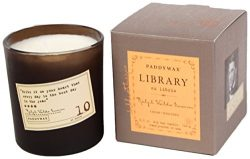 Paddywax Library Collection Ralph Waldo Emerson Scented Soy Wax Candle, 6.5-Ounce, Cedar & W ...