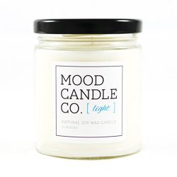 Natural Soy Candle, Light Fragrance, 50 Hours, Scent Notes of Bamboo, Green Tea Leaves, Thyme, W ...