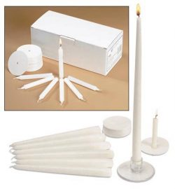 Church Vigil Devotional Unscented 1/2 x 4 1/4 Inch White Candle with Drip Protector – 100  ...