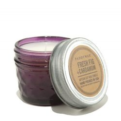 Paddywax Relish Collection Scented Soy Wax Jar Candle, 3-Ounce, Fresh Fig & Cardamom