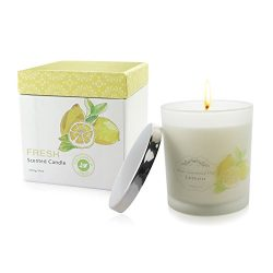 Natural Soy Wax Candle with Pure Essential Oil, Aromatheraphy Candle, Smokeless Candle, Huge Siz ...