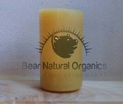 Handmade 100% Raw Organic Beeswax Pillar Candle 3″ x 5″ 14.5oz.