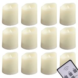 LED Tealights Candles Remote Control Timer Tea Lights – Flameless Flickering Votive Candle ...