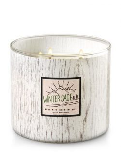 Bath and Body Works White Barn 3 Wick Candle Winter Sage 2017 Now Made With Essential Oils White ...