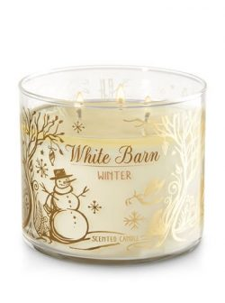 Bath and Body Works White Barn Winter 3 Wick 14.5 oz Candle for 2017