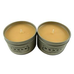 Pumpkin Spice Latte ~ Scented Holiday Candle ~ 2 Pack ~ 8 Ounce Tins ~ All Natural Soy Wax by Gu ...