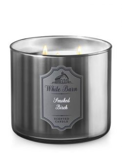 White Barn Smoked Birch 3 wick Candle