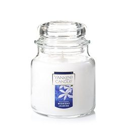 Yankee Candle Medium Jar Candle, Midnight Jasmine