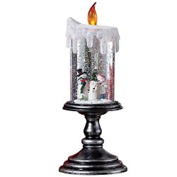 Lighted Christmas Snowman Candle Decoration, Snowman
