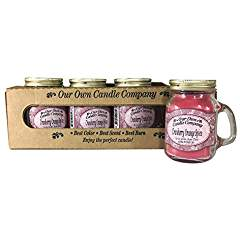 Cranberry Orange Spice Scented Mini Mason Jar Candle by Our Own Candle Company, 3.5 Ounce (4 Pack)
