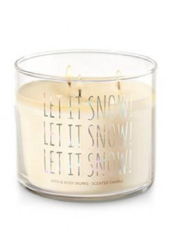 Bath & Body Works 3 Wick 14.5 Ounce Candle Let It Snow! Twisted Peppermint