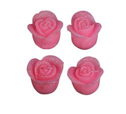 Hosaire 1X Creative Simulation Rose Candles(Pack 4) For Birthday,Wedding And Valentine's Day