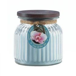 Zingz and Thingz Day At Spa Ribbed Jar Candle, Multicolor