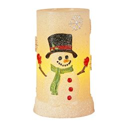 Snowman Flameless LED Candles with Timer, Battery Operated Candles for Christmas Decorations and ...