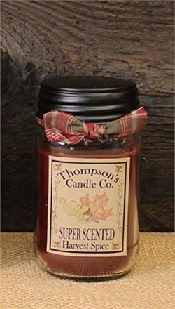 Super Scented Harvest Spice Jar Candle 16oz – Made in USA