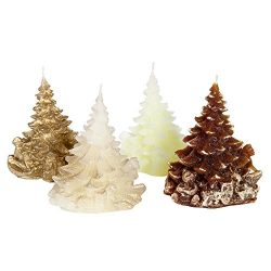 Candle Atelier 'Merry Christmas Trees' (Golden/Chocolate Theme) 4.7″ Handmade  ...