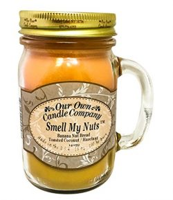 Smell My Nuts Scented 13 Ounce Mason Jar Candle By Our Own Candle Company – 2 Pack