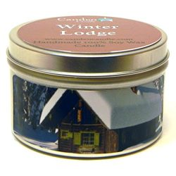 Winter Lodge, Super Scented Soy Candle Tin (6 oz)
