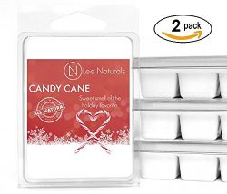 Lee Naturals Winter & Holiday – (2 Pack) CANDY CANE Premium All Natural 6-Piece Soy Wa ...