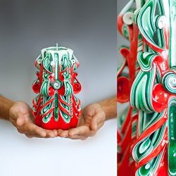 Unusual Christmas Gifts For Mom, For Him And For Her, Green Candles For Beautiful Present