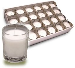Votive Candles In Clear Glass Cups Provide Soft Illumination For Up To 15 Hours (Ctn/24)