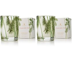 Thymes – Fragrant Frasier Fir Votive Candle with 15-Hour Burn Time – 2 Ounces, Set of 2