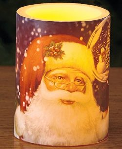 Holiday LED Candles(Santa with Globe)