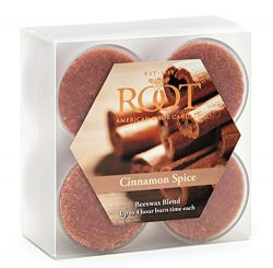 Root Scented Tealight Beeswax Candles, Box of 8, Cinnamon Spice, 8 Piece