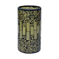 GiveU Glass Mosaic LED Pillar Candle 3X6″ Flameless Candle Battery Operated with 4&8 H ...