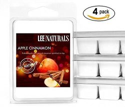Lee Naturals Fall – (4 Pack) APPLE CINNAMON Premium All Natural 6-Piece Soy Wax Melts. Han ...