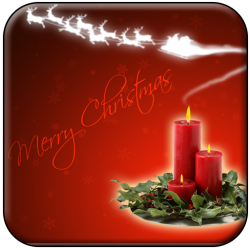 Candle Lite Christmas Wallpaper