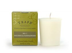 Trapp Signature Home Collection No. 7 Patchouli/Sandalwood Votive Scented Candle, Pack of 4