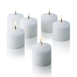 10 Hour Fresh Linen Scented Votive Candles Set of 72 Made in USA