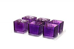 V-More Romantic Small Square Cube Mercury Glass Candle Holder, Votive Candle Holder, Tealight Ho ...