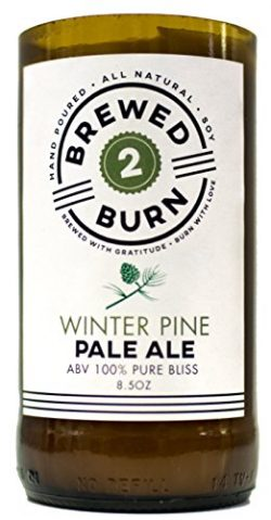 Brewed2Burn – Winter Pine Pale Ale Craft Beer Scented Candle 8.5oz All-Natural Soy Wax  ...